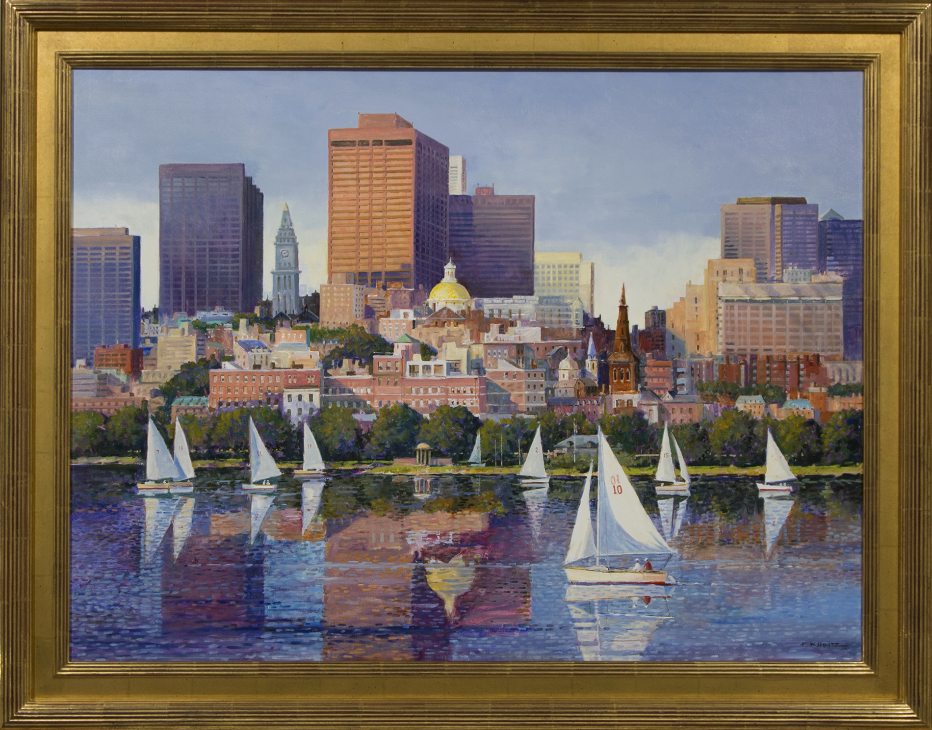 City Scape (From Across the Charles River, Boston)